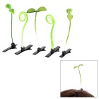 Cute Growing Curly Grass + Bean Sprout Style Hair Clip Set