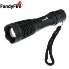 FandyFire E007 XM-L T6 LED 900lm 5-Mode White Light Zooming Flashlight - Black (1 x 18650 / 3 x AAA)