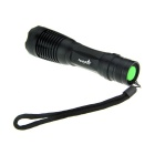 FandyFire E007 XM-L T6 LED 5-Mode White Zooming Flashlight - Black