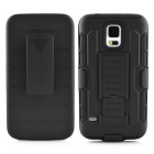 Heavy Duty Rugged Armor Holster Hard Case w/ Belt Clip/  Stand for Samsung Galaxy S5 G9106 - Black