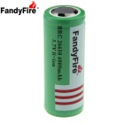 FandyFire 3.7V 3800mAh 26650 Li-ion Battery w/o Protective Board - Green + White (2 PCS)