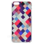 3D Grid Pattern Protective Plastic Back Case for IPHONE 6 PLUS - White + Black + Multicolor