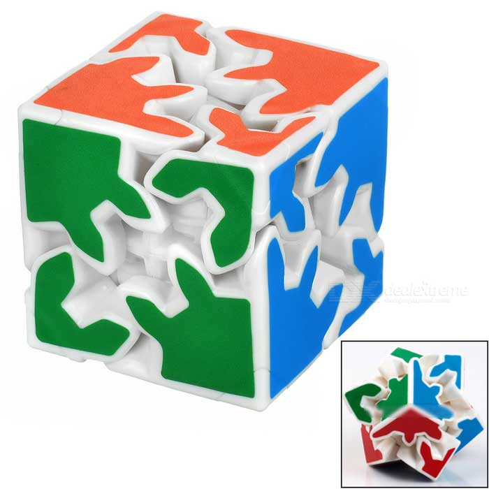 2 * 2 * 2 roues style Rubik's cube - blanc + multicolore