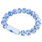 Portable Ceramic Bracelet Style Micro USB to USB Charging Cable for Android Phones - White + Blue