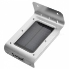 Waterproof 1W 16-SMD 2835 400lm 6000K Smart Sound Control Solar Motion Light - Black + Silver (3.7V)