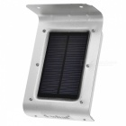 Waterproof 1W 16-SMD Smart Sound Control Solar Motion Light - Silver