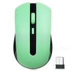 2.4GHz Wireless 1000~1600dpi Mouse w/ USB 2.0 Receiver - Black + Green