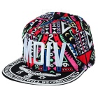 "WB-09241 ""MDIV"" Pattern Hip-Hop Style Four Seasons Hat - Black + Multi-Color"