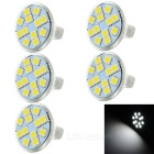 JRLED MR11 3W LED Cup Lamps Cool White 6829K 150lm 12-5050 SMD (DC 12V / 5PCS)