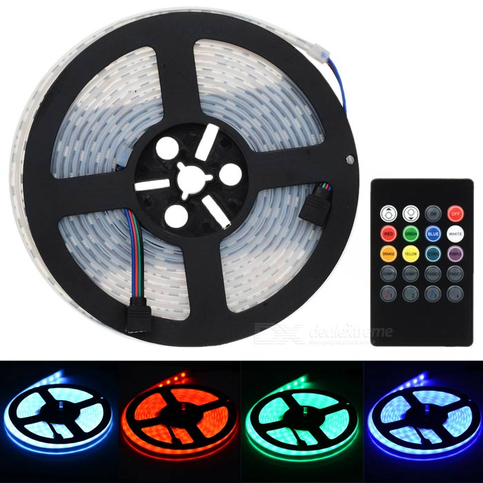 JRLED Waterproof 60W RGB SMD LED Light Strip w/ Controller (EU Plug)