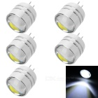 G4 1.5W 3-COB 100lm 7500K Bluish White Light Mini Spotlight (5PCS / DC: 12V)