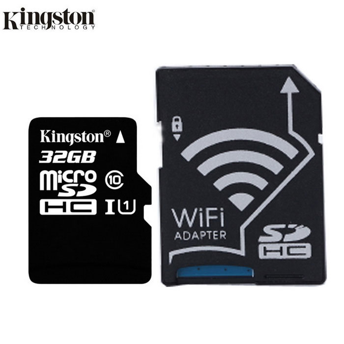 KINGSTON 32GB micro SDHC Class10 flashminnekort m / wi-fi SD-adapter