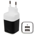 Universal Travel Charger 5V 2.1A Double Port USB Power Adapter / Charger (100-240V / EU Plug)
