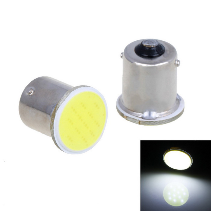 1156 2.5W 12-COB LED Bulbs for Car Turn Signal Light White 80lm (2PCS)