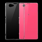 Ultra-thin Protective TPU Back Cover Case for Sony Xperia Z1 Compact / Z1 Mini - Transparent