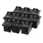 2Pin Rocker Switches - Black (10 PCS)