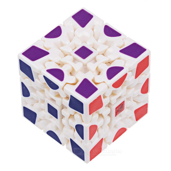 3 *3 *3 Wheel Gear Style Rubiks Cube - White + MulticolorMagic IQ Cubes<br>Form  ColorWhite + MulticolorMaterialABSQuantity1 DX.PCM.Model.AttributeModel.UnitType3x3x3Suitable Age 3-4 years,5-7 years,8-11 years,12-15 years,Grown upsPacking List1 x Cube<br>