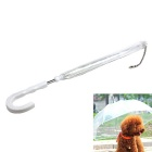 Pet Small Dog Activities Umbrella w/ Traction Chain - Transparent