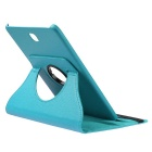 ENKAY 360' Rotation PU Case w/ Stand for Samsung Tab S2 T715 - Blue