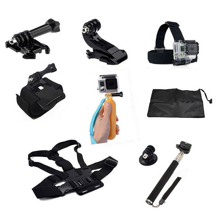 9-in-1 Sports Camera Accessories Kit for GoPro, SJ5000, SJCam, Xiaoyi