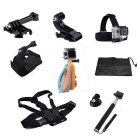 9-in-1 Sports Camera Accessories Kit for GoPro Hero 4 / 3 / 3+ / SJ4000 / SJ5000 / SJCam / Xiaoyi