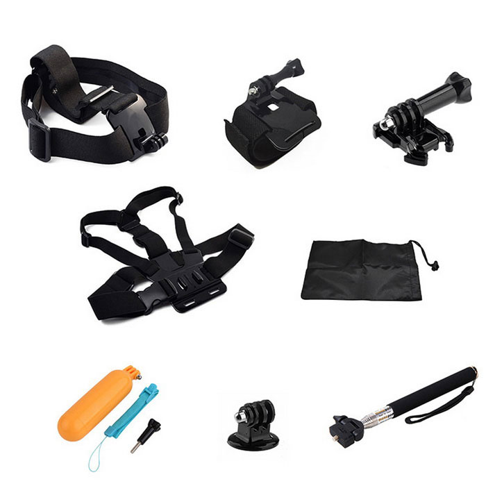 8-in-1 Sports Camera Accessories Kit for GoPro, SJ5000, SJCam, Xiaoyi