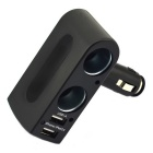 Jtron DC 12V 3.1A Dual USB Cigarette Car Charger - Black
