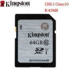 Kingston SD10VG2 Digital 64GB SDHX Class 10 UHS-I 45R/10W Flash Memory Card (64GB)
