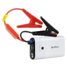 SynkTech Emergency Auto Car Jump Starter Kit w/12,000mAh 12V Ultra-bright LED Flash Light - White