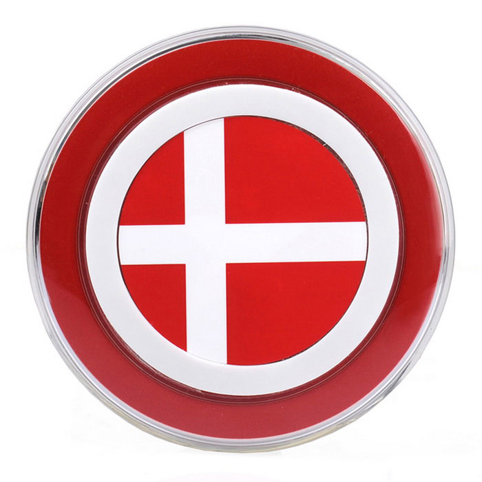 Denmark Flag Pattern QI Wireless Charger for Smartphones - Red