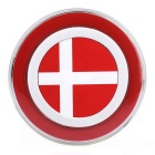 Denmark Flag Pattern QI Standard Wireless Charger for Smartphones - Red