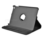 Litchi Pattern Protective PU Case w/ Stand for IPAD MINI 4 - Black