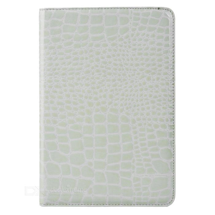 Alligator Pattern Protective Case w/ Stand for IPAD MINI 4 - White