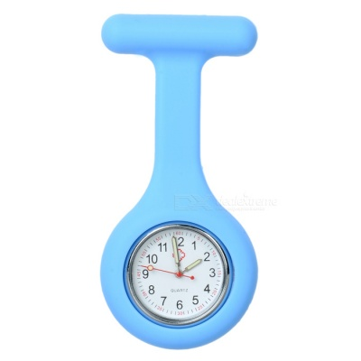 Silicone Brooch/Lapel Nurse Quartz Watch - Blue (1*377)