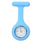 Silicone Brooch/Lapel Nurse Quartz Watch - Blue (1*377 Included)