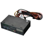 525F20 USB 3.0 Media Dashboard Card Reader w/ LCD Display - Black