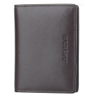 JIN BAO LAI Men's Fashionable PU Leather Cards Holder Money Cash Clip Wallet - Coffee