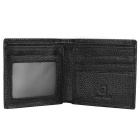 JINBAOLAI Men's Genuine Leather Card Holder Wallet Purse - Black