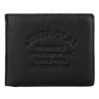 JIN BAO LAI Men's Genuine Leather Card Holder Wallet Purse - Black