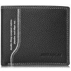 JIN BAO LAI Men's Fashion Genuine Leather Card Holder Wallet Purse - Black