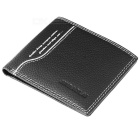 JINBAOLAI Men's Fashion Genuine Leather Holder Wallet - Black