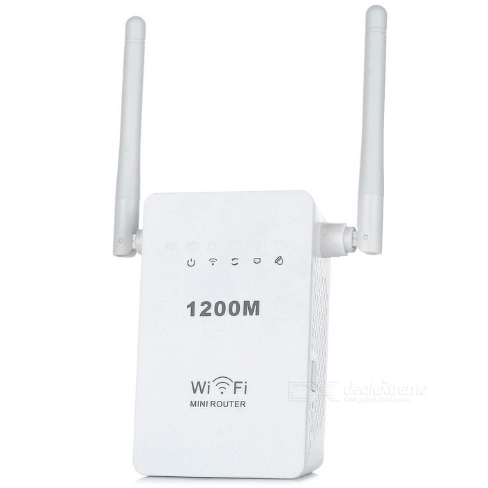 300Mbps 2-antenne 2,4 GHz draadloze AP repeater router - wit (uk plug)