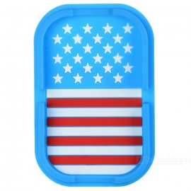 US flag patroon PVC auto anti-slip mat - blauw + rood + multicolor