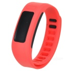 H6 Smart Bracelet w/ Time, Date, Steps, Calories Display - Dark Pink + Black