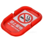 No Smoking Pattern PVC Car Anti-Slip Mat - Red + White + Black