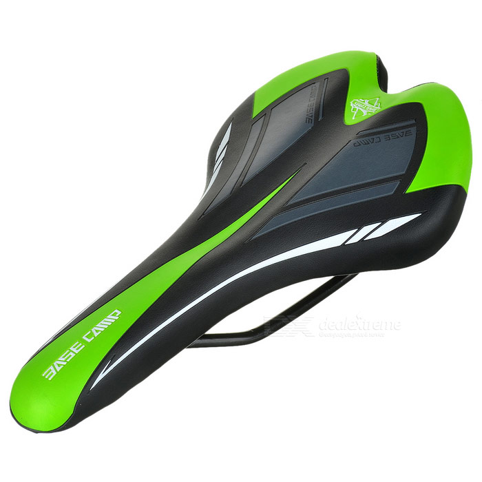 BaseCamp Outdoor Cycling PU + Sponge Bike Saddle - Black + Green