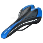 BaseCamp Outdoor Cycling PU + Sponge Bike Saddle - Black + Blue