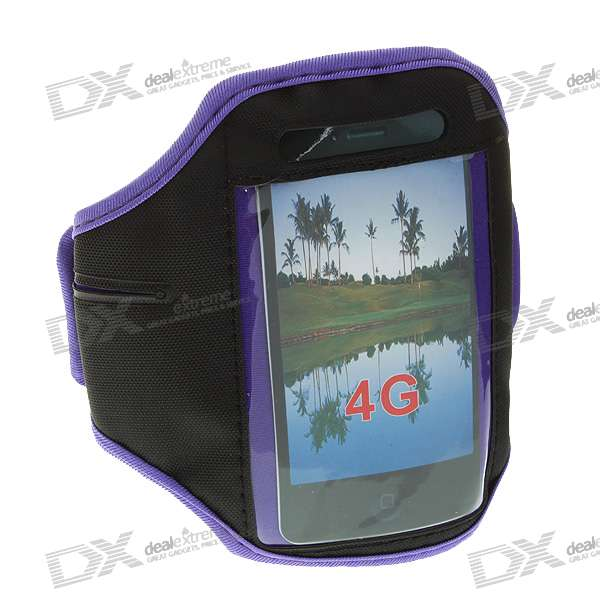Sport Armband for Iphone 4 - Purple + Black