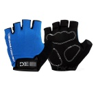 Basecamp BC-204 Outdoor Cycling Anti-Shock Breathable Half-Finger Gloves - Black + Blue (L / Pair)
