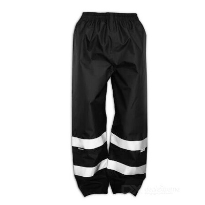 Salzmann Outdoor Cycling Reflective Long Rain-proof Pants - Black (XL)
